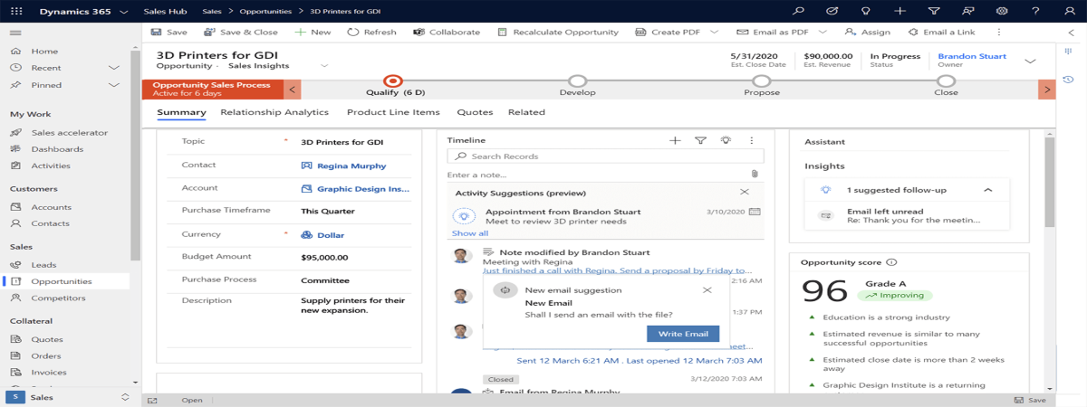 User experience Dynamics 365